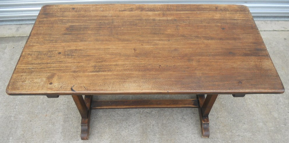 Elm refectory dining table by ercol sold watchthetrailerfo